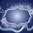 Royalty-Free Stock Vector Image: Winter snowflake blue frame with copy space.