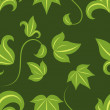 Seamless green leaves vector pattern — Stock Vector #18151417