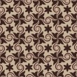 Royalty-Free Stock Vector Image: Abstract brown seamless pattern with curls.
