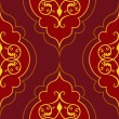 Seamless red simple damask vector pattern. — Stock vektor