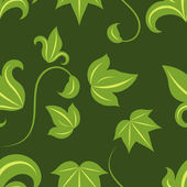 Seamless green leaves vector pattern — Stock Vector