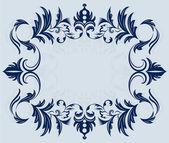 Illustrazione vettoriale di ornamento d'epoca telaio orizzontale. — Vettoriale Stock