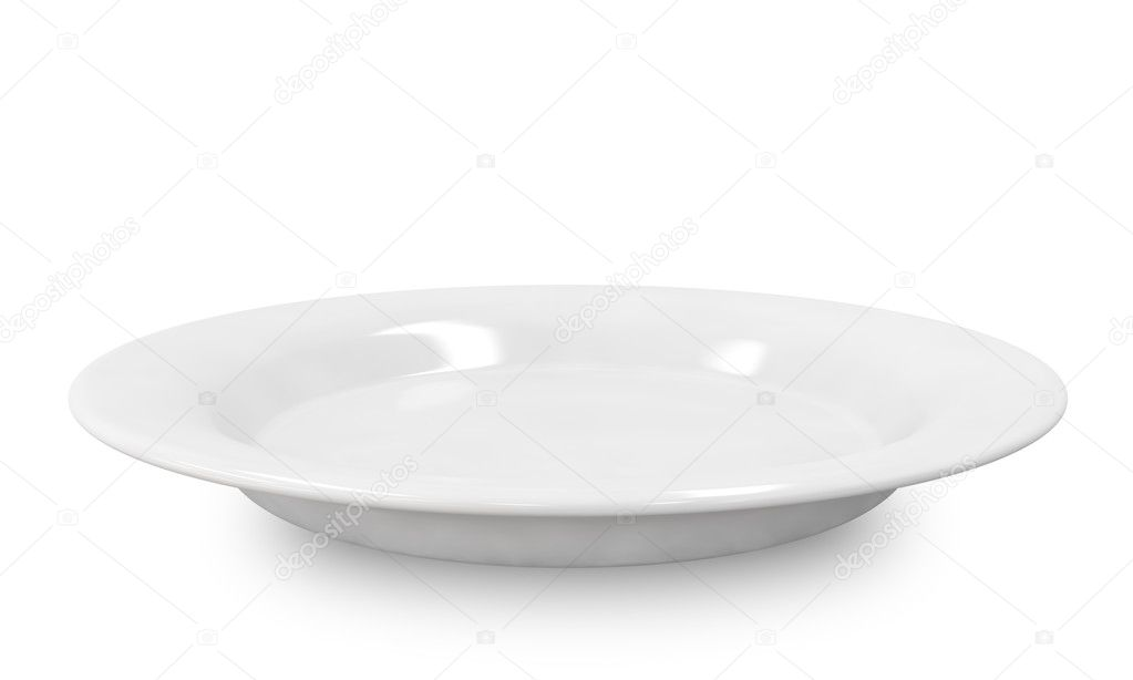Empty plate isolated on white background. — Stock Photo #18183043