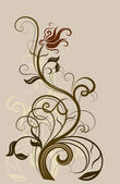 Abstract floral vintage design element. — Stock Vector