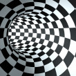 Abstract round checkered tunnel background. — Stock Photo #19468229
