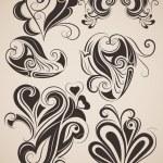 Set of vintage floral design elements. — Stock Vector #19468203