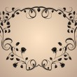 Royalty-Free Stock Imagen vectorial: Vintage floral rose frame with copy space.