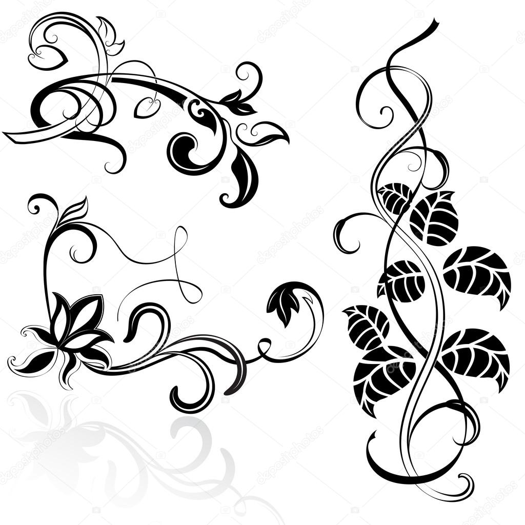 Displaying 16> Images For - Simple Flower Designs Black And White...