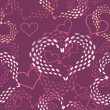 Seamless pink Valentine's day  vector background with hearts. — Stock Vector