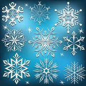 Set of vector snowflakes. — Stock Vector