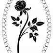 Black and white rose drawing vector illustration. — Stock Vector #19769123
