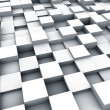 Multiple white cubes background — Stock Photo