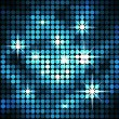 Abstract blue mosaic sparkling vector background. — Stock vektor