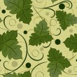 Seamless green leaves vector pattern. - Stock Vector