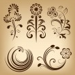 Floral vintage vector design elements. — Stock Vector