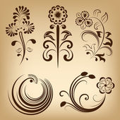Floral vintage vector design elements. — Stock Vector