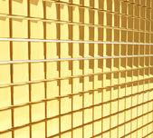 золотые кубики глянцевый стены фон. — Стоковое фото