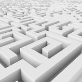 Endless maze 3D render. — Stock Photo