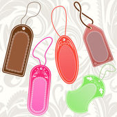 Set of color hanging tags with copy space. — Stockvector