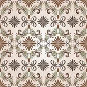 Nahtlos braun vektor floral-muster. — Stockvektor
