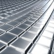 Stock Photo: Abstract 3D embossed metal surface industrial background.