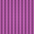 Seamless pink knitting fabric vector pattern. — Stock Vector
