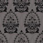 Seamless dark retro wallpaper vector pattern. — Stock Vector