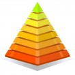 Colorful pyramid design element isolated on white background. — Stock Vector