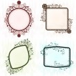 Stock Vector: Vintage grunge ornate frames.