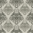 Seamless ornate vintage vector wallpaper pattern with flower bud — Stock Vector