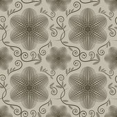 Seamless ornate vector wallpaper pattern — Stock Vector