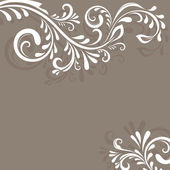 Beige vector background with floral ornament — Stock Vector