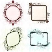 Vintage grunge ornate frames. — Stock Vector