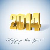New 2014 year golden figures card. — Stock Vector