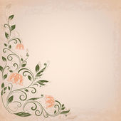 Abstract flower vintage vector background — Vector de stock