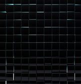 Black glass cubes wall background. — Stock Photo