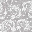 Seamless bright floral vintage vector pattern. — Stockvector