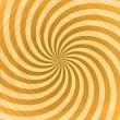 Abstract yellow rays swirl vector background. — Stock Vector