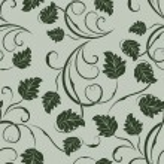 Seamless green leaves monochrome vector pattern. — Stock Vector