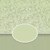 Fondo vintage floral verde oscuro transparente — Vector de stock