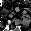 Falling 3D black rounded cubes background. — Stock Photo #27793215