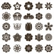 Stock Vector: Vintage flower buds vector design elements isolated on white bac