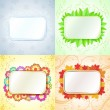 Abstract seasonal frames with copy space backgrounds. — Stock Vector