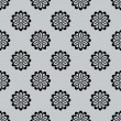 Seamless monochrome abstract flower buds pattern. — Stock Vector