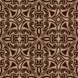 Seamless brown abstract ornamental vector pattern. — Stockvektor