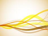 Horisontella gul vågiga ränder bakgrund. — Stockvektor