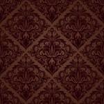 Seamless brown floral vector wallpaper pattern. — Stock Vector #35955631