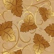 Seamless yellow fall leaves vector pattern. — ベクター素材ストック