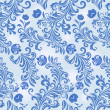 Seamless winter blue flower vector wallpaper pattern. — Stock Vector