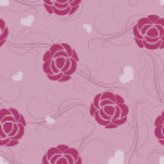 Seamless floral pink flower vector wallpaper pattern. — Stock Vector #35955661